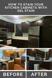 stain oak kitchen cabinets with gel stain