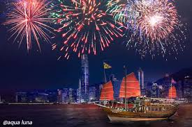 new year enjoy 2018 hong kong new year fireworks on harbour