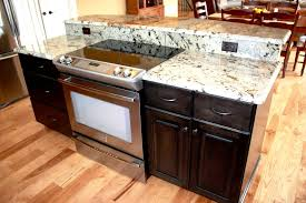kitchen island with stove and seating backsplash kitchen island with slide in stove kitchen island