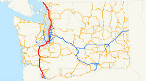 Washington Map With Cities by Interstate 5 In Washington Wikipedia