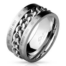 bible verse rings jewels mystic steel jewelry mens ring stainless steel bible