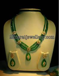 beads necklace sets images Ruby emerald beads imitation jewellery jewellery designs JPG