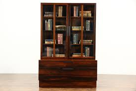 sold midcentury modern rosewood vintage danish bookcase or china