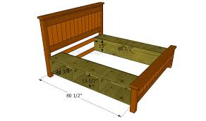Make Bed Frame How To Build A Bed Frame With Drawers Howtospecialist How To
