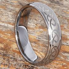 wedding bands dublin dublin 6mm silver knot tungsten celtic wedding bands in a dome shape