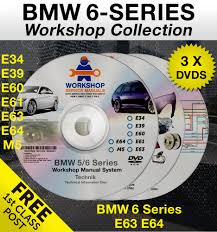 bmw 6 series 3 dvd workshop service manual parts wiring e63 e64 m6