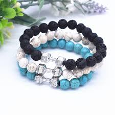 bead bracelet stone images Buy 1 set 3 color natural lava stone beads jpg