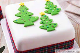 Food Decorations For Christmas Tree festive christmas cake decoration with holiday trees the art of