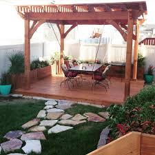 awe douglas fir pergola planters deck u0026 suspension table as