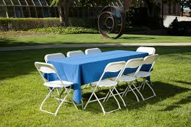 tables and chairs rentals equipment rental 6ft table with linen 8 chairs
