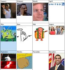 Meme Calendar - my best attempt at an updated 2017 meme calendar album on imgur