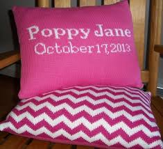 personalized knit blanket the initial design monograms embroidery