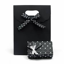 bow boxes spotted bow jewelry gift box and shopping gift bag packaging set