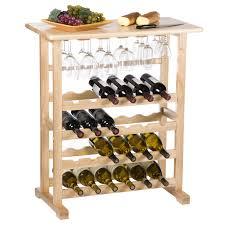 Dining Room Table With Wine Rack Vinny Dark Espresso 24 Bottle Wine Rack Hayneedle