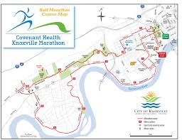 Marathon Route Map knoxville marathon this weekend expect road closures wate 6 on
