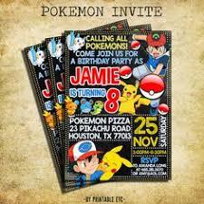 pokemon online birthday invitations birthday ideas 2017