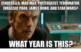 What Year Is This Meme - cinderella mad max poltergeist terminator uurassic park james bond