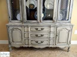 dining room vintage chalk painted china cabinets and hutches for