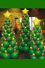 christmas tree made from balloons christmas pinterest