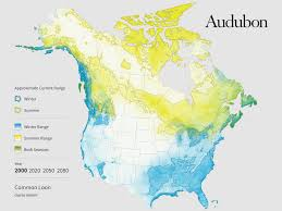 North American Time Zones Map by The Audubon Report At A Glance The Audubon Birds U0026 Climate