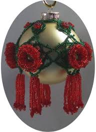 slider seed bead ornament sova enterprises