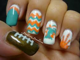 miami dolphins nail art with sensationail youtube miami dolphins