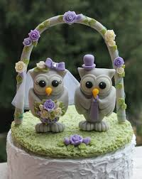 owl cake toppers wedding owl cake topper with grass base and arch big owls