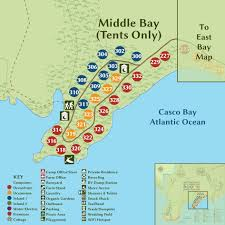Green Bay Map Interactive Campground Map Middle Bay Tents Only