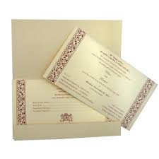 Online Indian Wedding Invitation Cards Premium Indian Wedding Card With Embossed Motifs