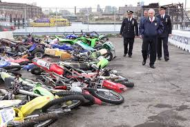 nypd crushes illegal dirt bikes as a message to u0027knuckleheads