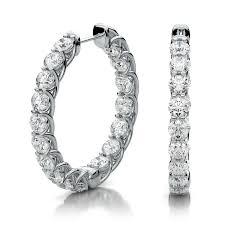 inside out diamond hoop earrings diamond hoop inside out maxine style earrings in 18k white gold