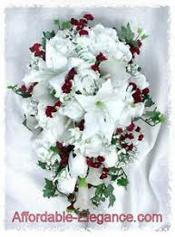 Silk Wedding Flowers Burgundy Wine Cascade Bridal Bouquet Roses Calla Lilies Silk