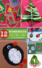 love these christmas card ideas that the kids can make handmade
