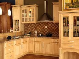 Rustic Kitchen Hoods - rustic kitchen with wooden light brown maple lowes cabinet door