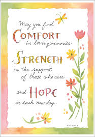 sympathy card comfort strength and sympathy card it takes two inc