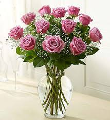 purple roses elegance premium stem purple roses 1800flowers 105257