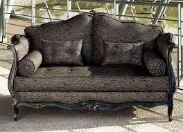 canap style louis xv canapé de style louis xv en tissu 2 places marron axelle