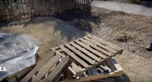 Raised Garden Beds From Pallets - how to use wood pallets to make a diy raised garden bed