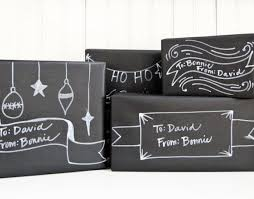 chalk wrapping paper chalkboard packaging using black craft paper and white paint