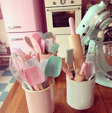 pin by kristen zamora on room ideas pinterest pastels my kitchen has a pastels colour scheme i have pale blue pink and lilac and even yellow utensils and cooking stuff