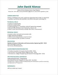 Sample Resume Format For Civil Engineer Fresher Impressive Resume Format 25 Latest Sample Cv For Freshers 20 Peppapp