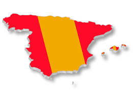 Spain Flags Spanish Flag Over Map Of Spain U2013 Travel Around The World