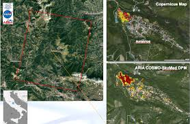 Italy Earthquake Map Amatrice Italy Earthquake 2016 Nasa Earth Science Disasters Program