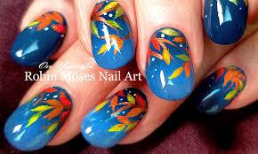 robin moses nail art fall nails easy autumn nail art design