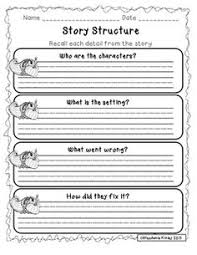 story structure graphic organizers story elements graphic