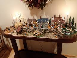 thanksgiving village using dept 56 dickens village houses the