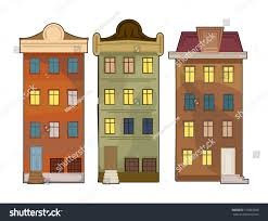 Cute House by Set 3 Different Pretty Cute Houses Stock Vector 153883028