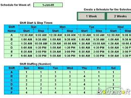 download free schedule multiple daily shifts schedule