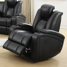 Black Tufted Sofa by Delange Power Recliner In Black 601743p