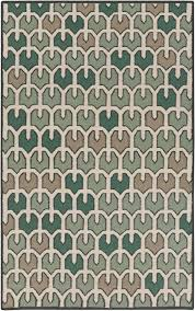 Suray Rugs Amd 1078 Green Cream Printed Tulip Surya Rug